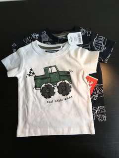 [readystock] NEXT 2-pack tshirts (3-6months)