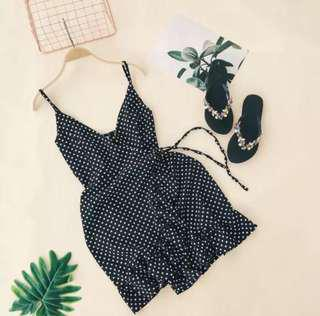 Polka Dots Wrapped Dress