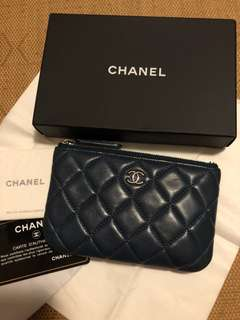 Chanel coins bag card holder small wallet