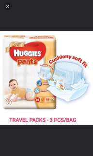 Huggies Gold Pull up pants travel pack
