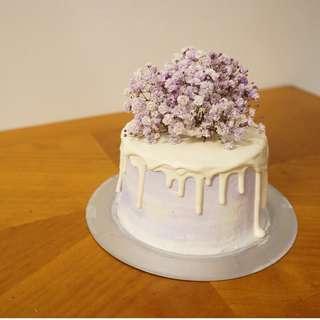 滿天星鮮花蛋糕purple x purple