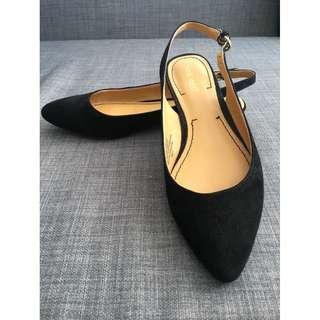 New Nine West leather Kitten Heels slingback flats shoes, 8