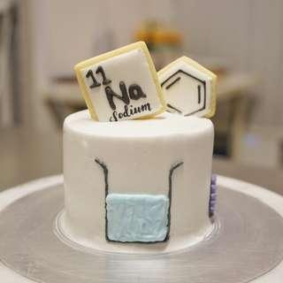 化學主題蛋糕