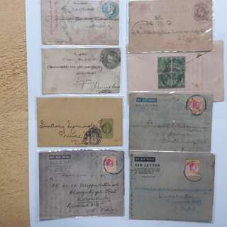 Old air letters post card x 8pcs. RARE