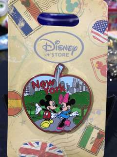 Disney Store NYC New York City Mickey and Minnie Pin