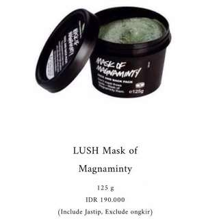 Jastip PO Jepang : LUSH Mask of Magnaminty 125 g