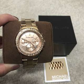 Michael Kors Rose-gold tone womens watch