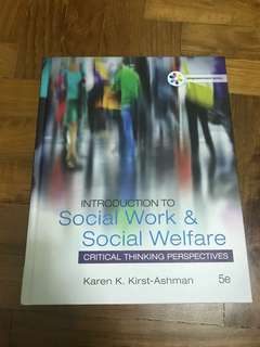 Brand New! Social Work and Social Welfare - Critical Thinking Perspectives