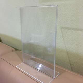 A5 Vertical Acrylic Display Stand