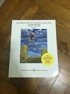 Fast Sale! Critical Thinking - A Student's Introduction