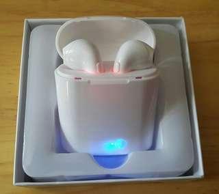 全新 i7S TWS 藍芽耳機一對連差電盒(白色),歡迎議價