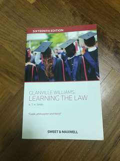 Fast Sale! Learning The Law by Glanville Williams