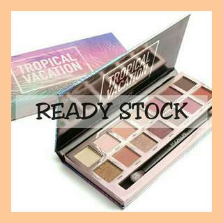 Readystock focallure tropical vacation eyeshadow pallete