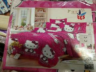 Dark Pink Hello Kitty Pillow case Set