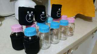 Glass milk storage bottle/ baby bottle 5oz