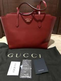 Brand New Large Gucci Swing Tote