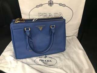 Authentic Preloved Prada Saffiano Lux BN2863 in Azzuro
