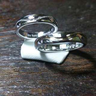 💜訂做結婚戒指一對(個性設計款)