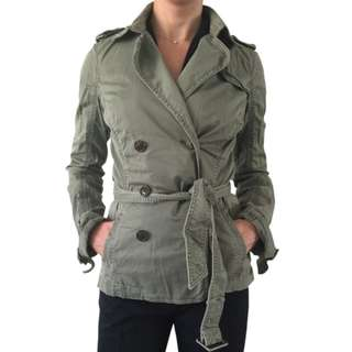 Abercrombie & Fitch A&F Jade Cotton Spring Trench Jacket US$150=P7,650