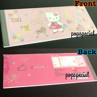 Hello kitty Cheque Book Style Pink Memo Pad
