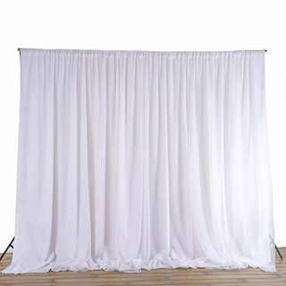 🚚 White Curtain 2.4m