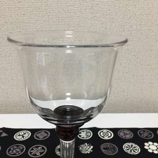 中古日本玻璃座地燭台