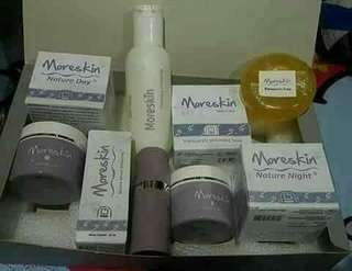 Cream Moreskin nature 1set