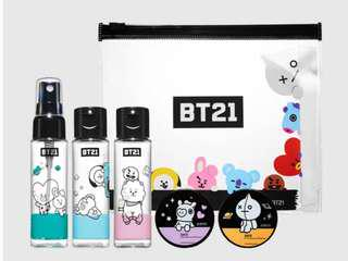 BT21 Cosmetic Container Kit