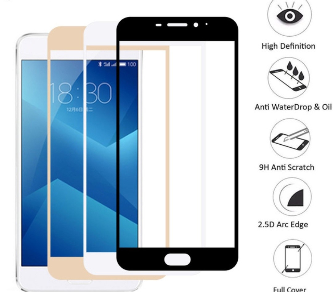 9h Hardness Full Tempered Glass For Meizu M5black Mobiles Motomo Vivo Y21 Back Case Hardcase Color Share This Listing