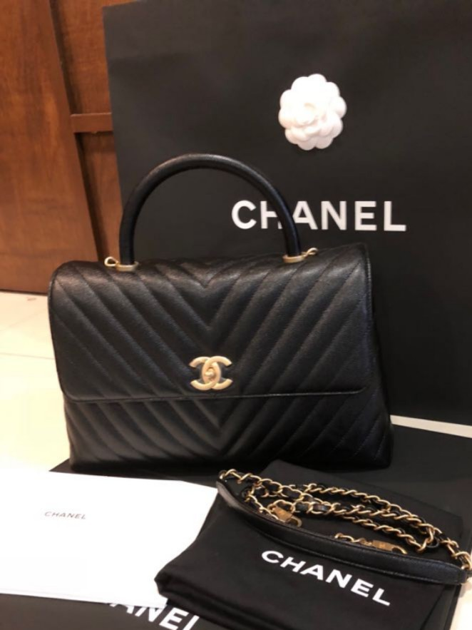 c2ecf7d4a178be At Europe Price! Chanel Cocohandle (Large size 32cm base width), Luxury,  Bags & Wallets, Handbags on Carousell