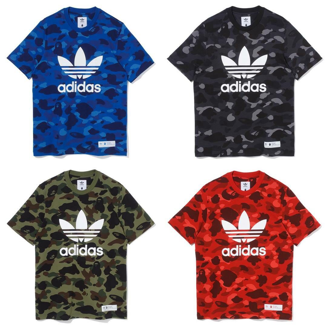 dfa3a571d BAPE x Adidas Tee, Men's Fashion, Clothes, Tops on Carousell