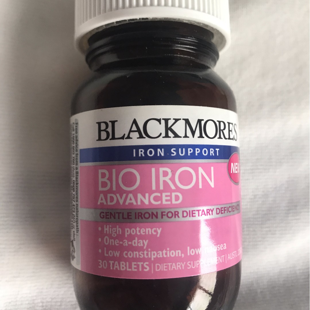 Blackmores Bio Iron Advanced 30 Tabs Daftar Harga Terlengkap C Chewable 500mg 125 Tablet Made In Australia Hp Vin Source Share This Listing