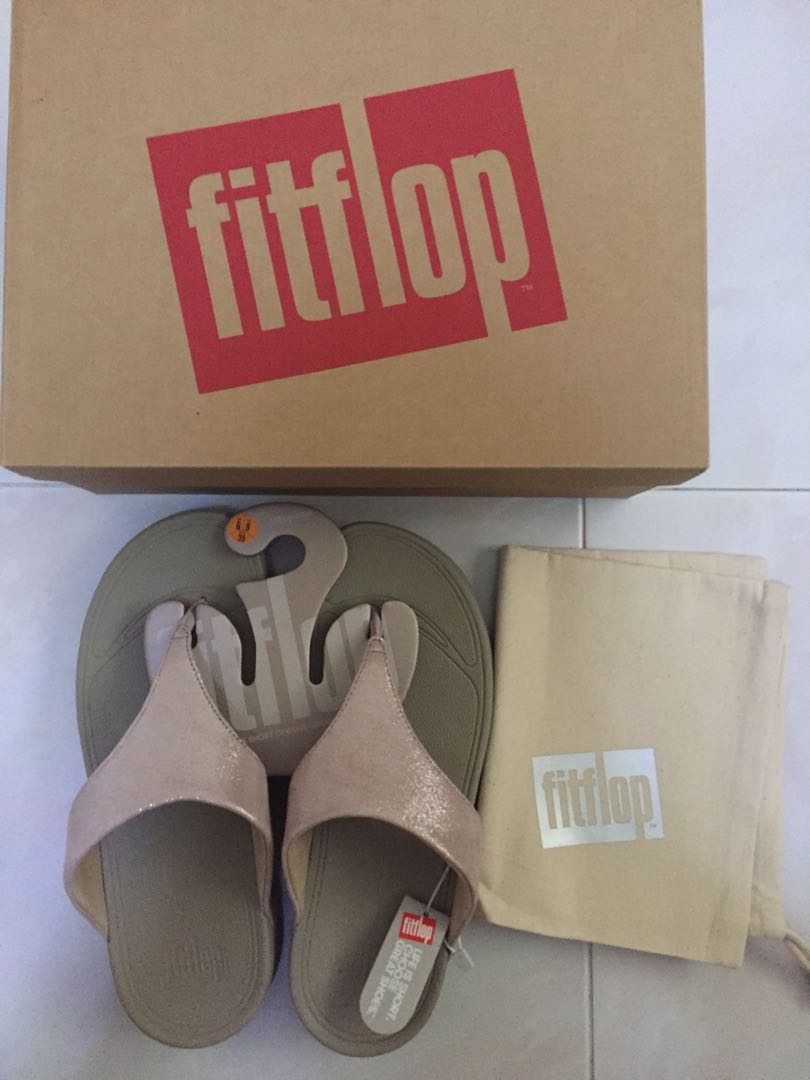 84c91329d90a BNIB Authentic Fitflop Lulu Shimmersuede Nude