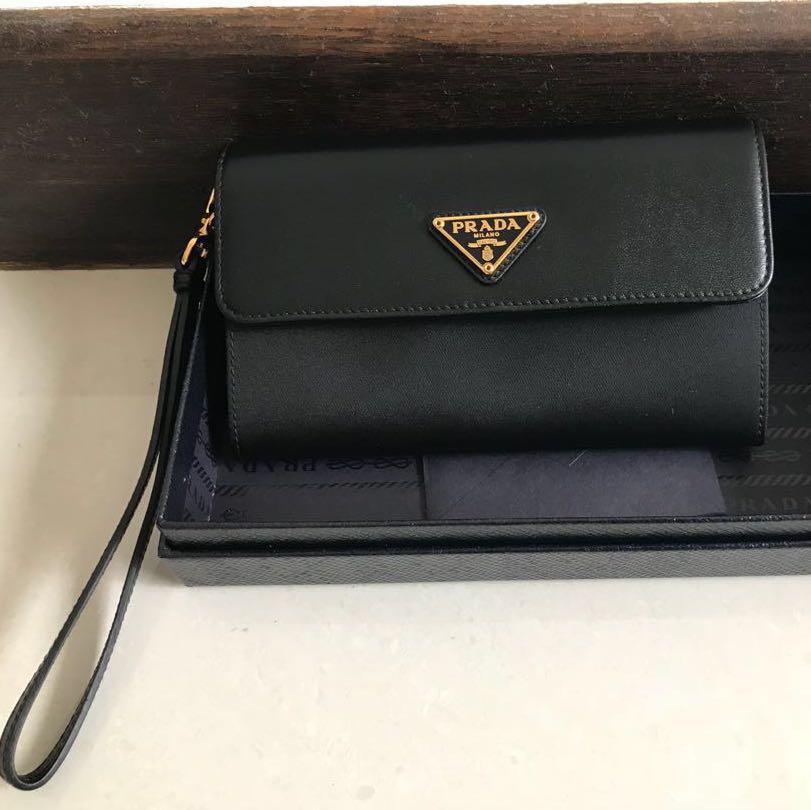 4ac2bde54ac5 BNIB Prada Wallet Wristlet