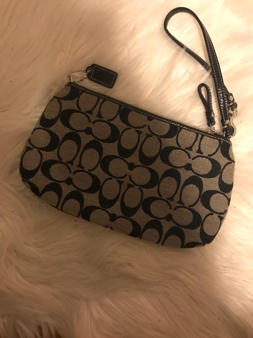 Coach Signature wristlet/Clutch