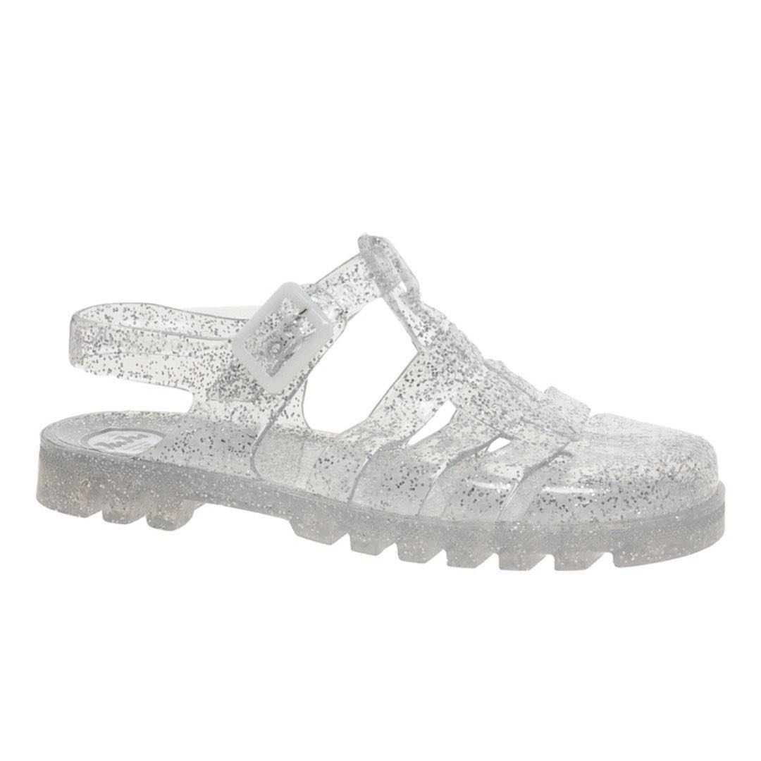 eea5c4af8 Cotton On Rubi Jelly Sandals Clear Glitter Sparkle