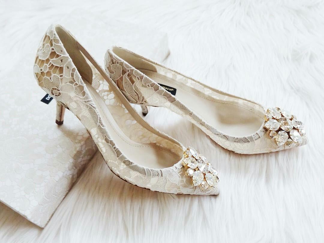 aa23c7907d1 Dolce Gabbana Kitten Heels in White