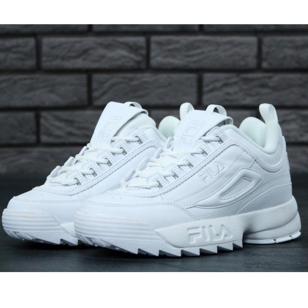 c29d5ade55 FILA DISRUPTOR 2 all white, Women's Fashion, Shoes, Sneakers on ...