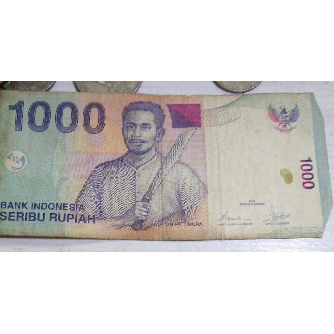 Foreign Bank Note Indonesia 1000 Rupiah Antiques Currency On Carou