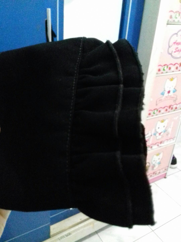 Gamis Syar I 3 Susun Black Size L Bahan Jetblack Merk Balqis