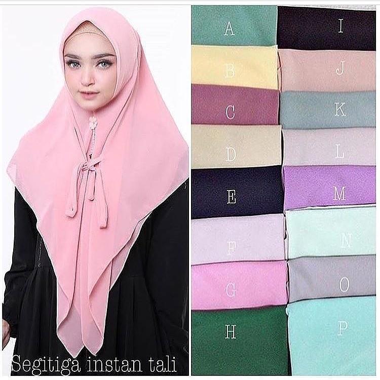 Hijab Instan Segitiga Tali