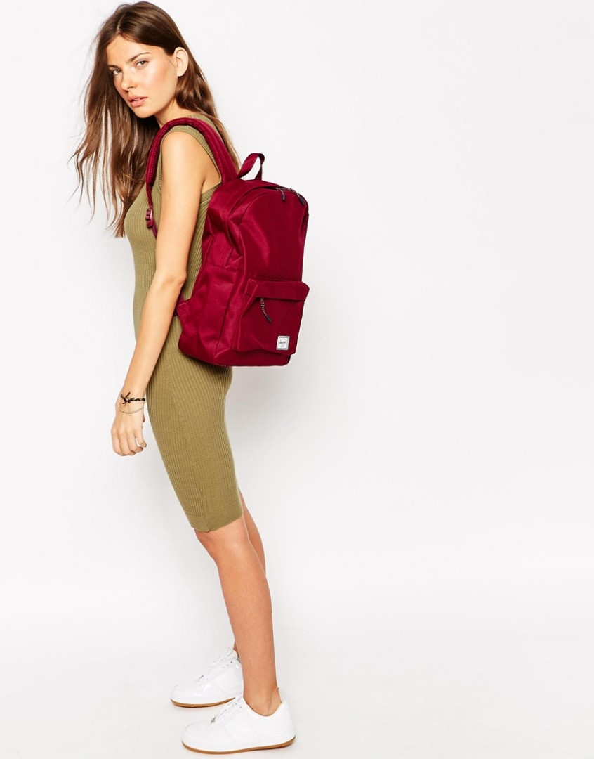 98e7e7ecb49 Instocks Herschel Classic Backpack Burgundy wine maroon colourway ...