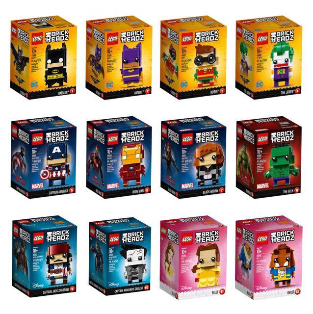 41585 Batman NEW SEALED 41586 Batgirl LEGO® Brickheadz Pack