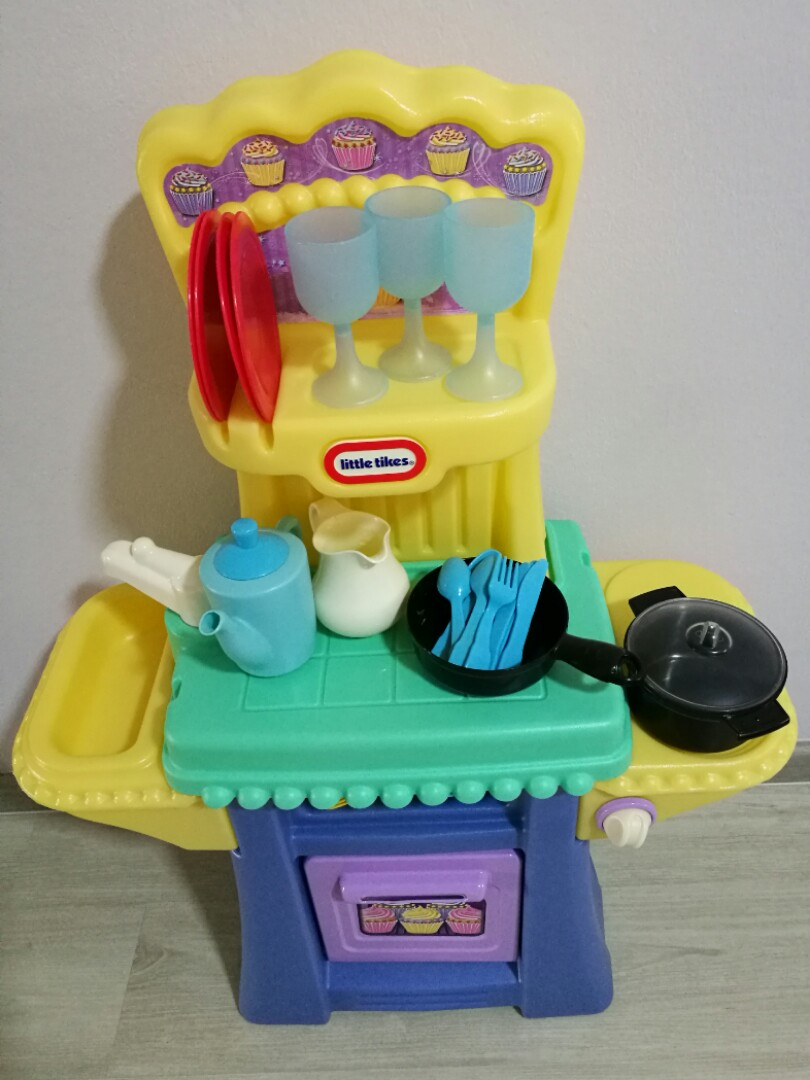 Little Tikes kitchen with ELC dining playset, Babies & Kids, Toys ...