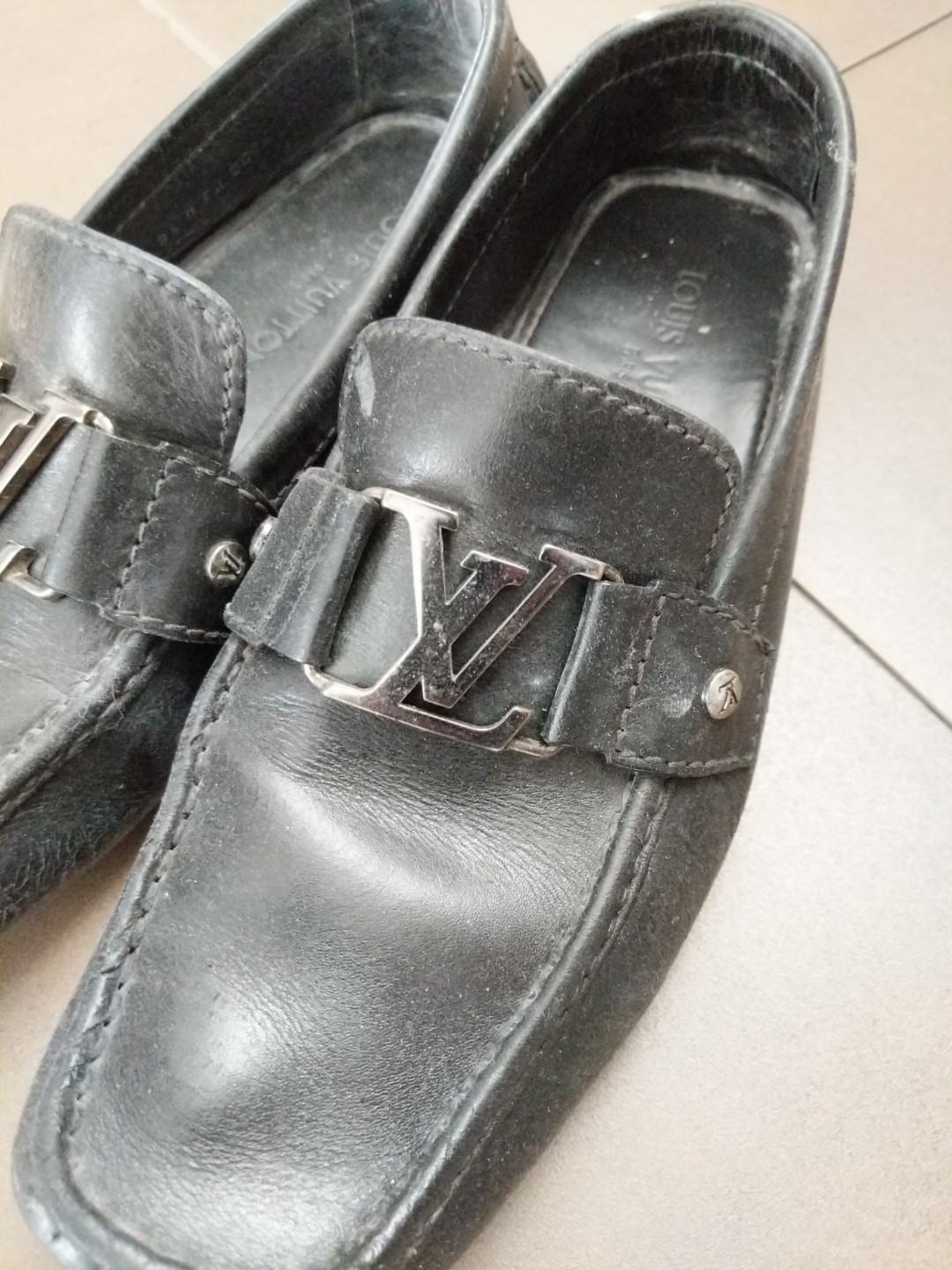 cc433b4a6114 Authentic Louis Vuitton Black Formal Shoes (polishing provided ...