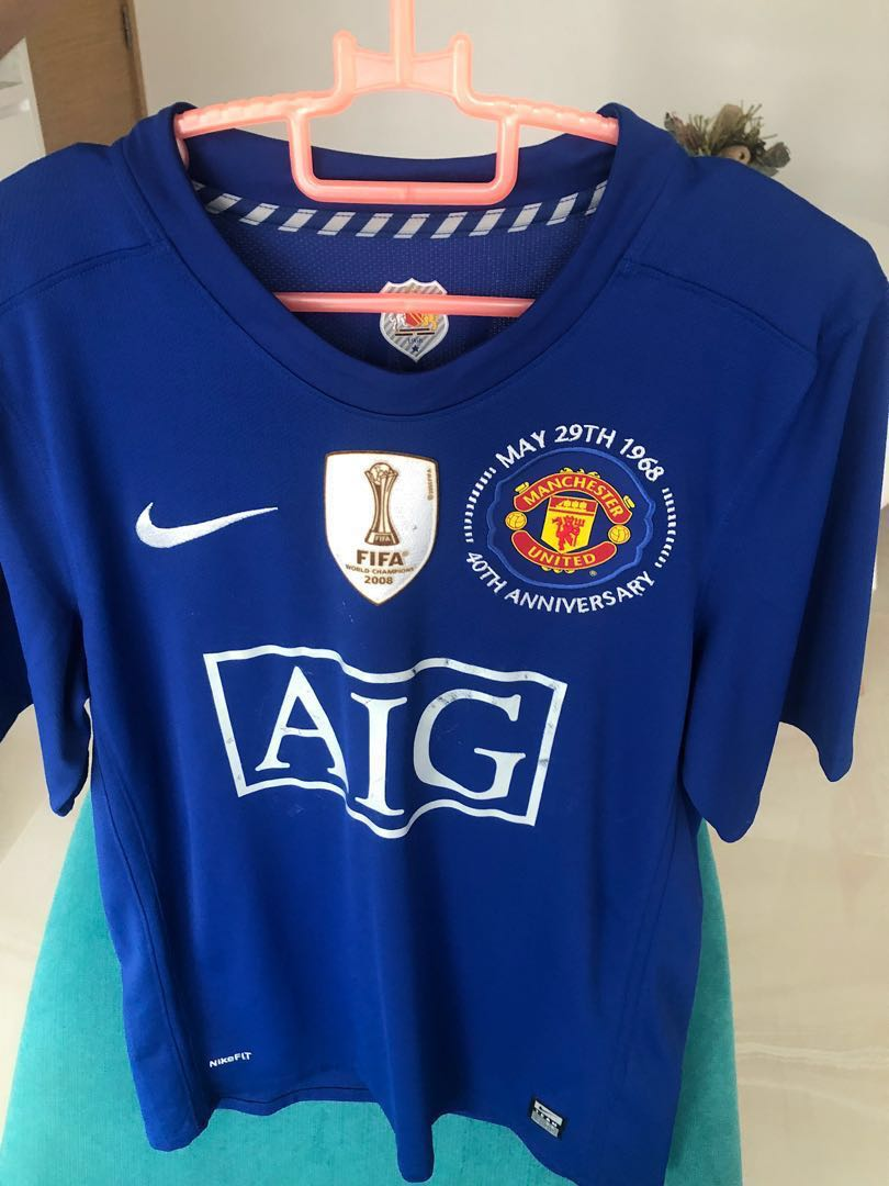 045ef8d57e5 Manchester united 08 09 UCL + world club cup winner jersey