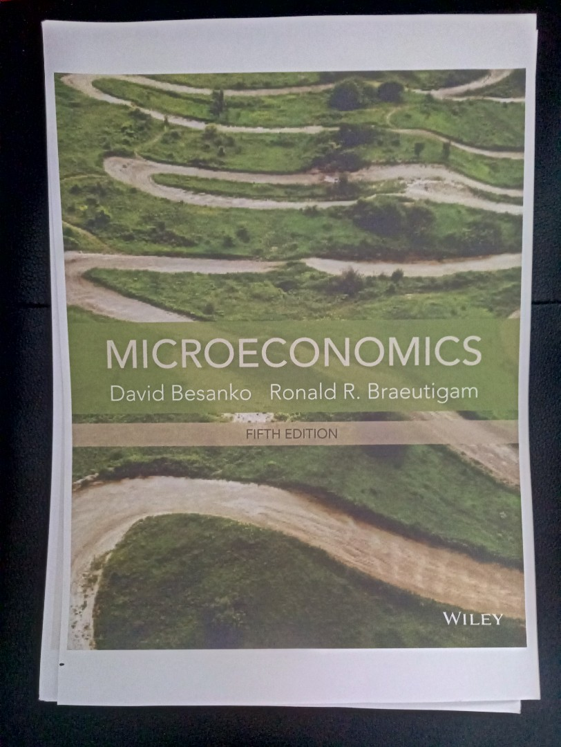 microeconomics 5th edition david besanko ronald r braeutigam rh sg carousell com Quick Study Charts Microeconomics Notes