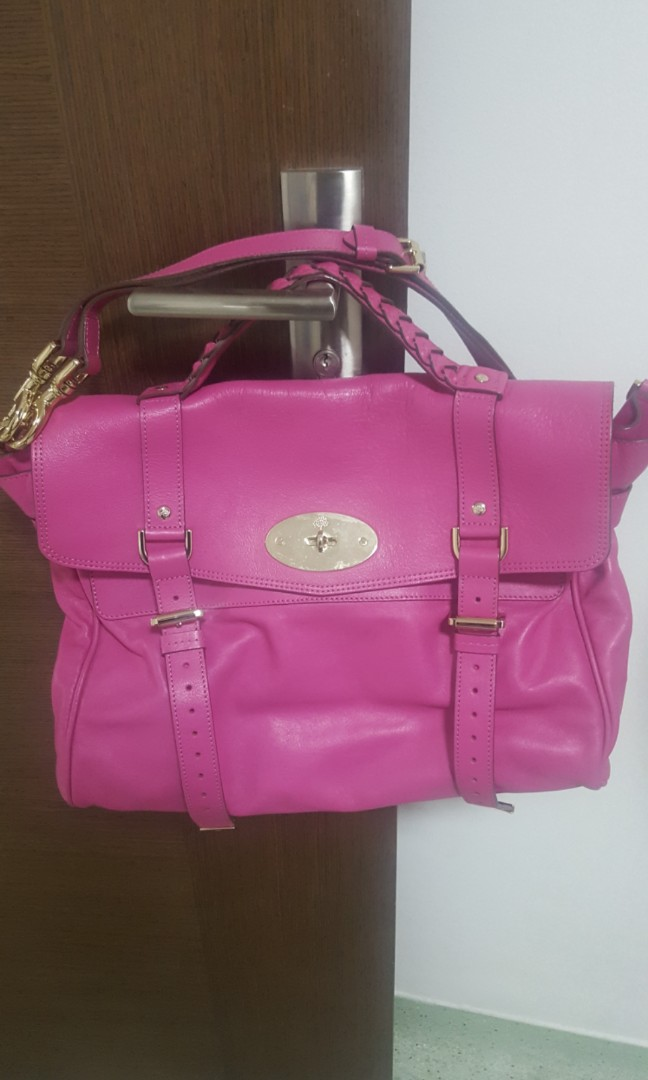 be02c8e105b1 Mulberry Oversized Alexa Satchel in Pink
