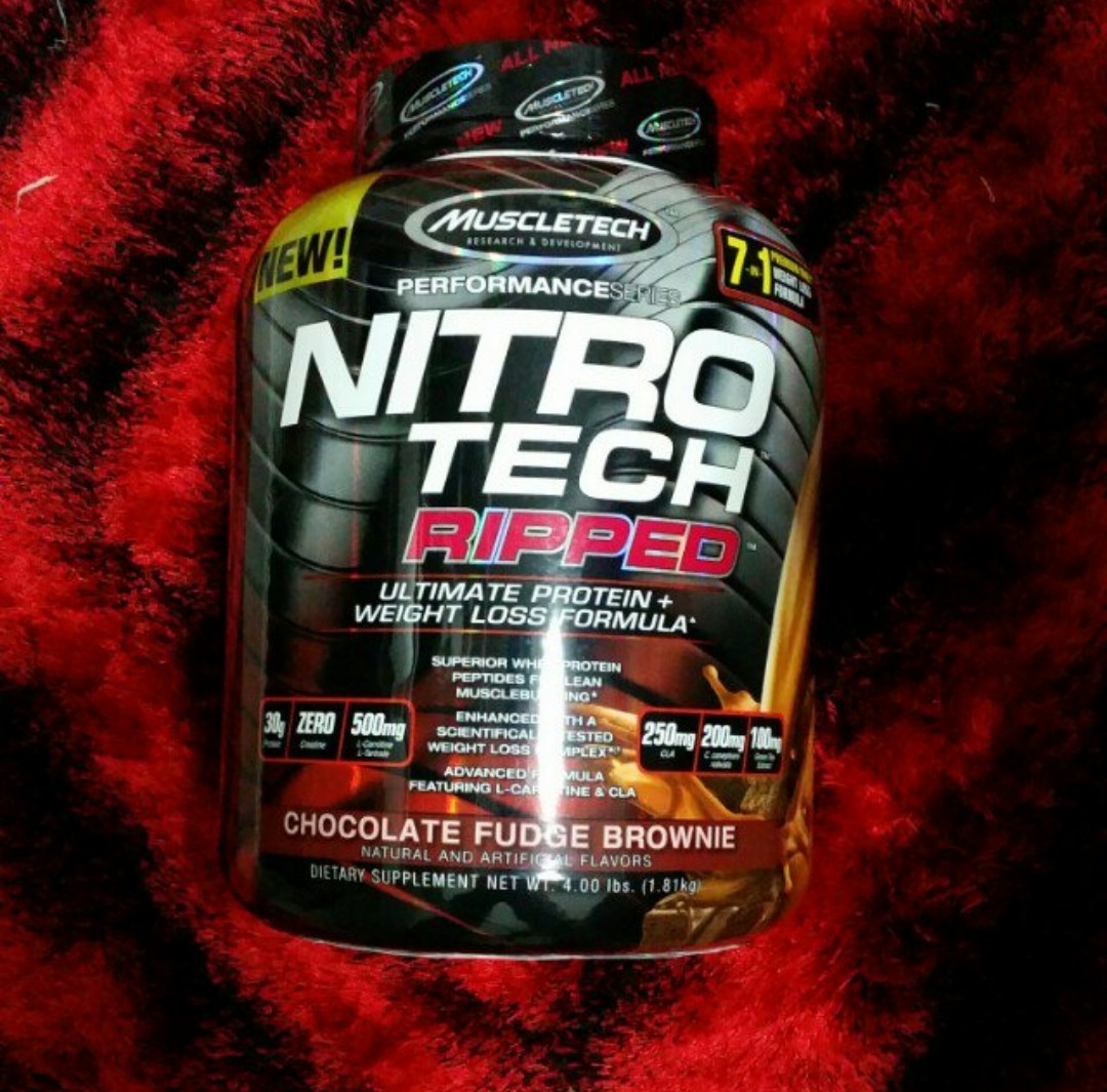 Muscletech Nitrotech Ripped 4lbs Perfomance Series Sports Nitro Tech 4 Lbs Whey Protein Games Equipment On Carousell