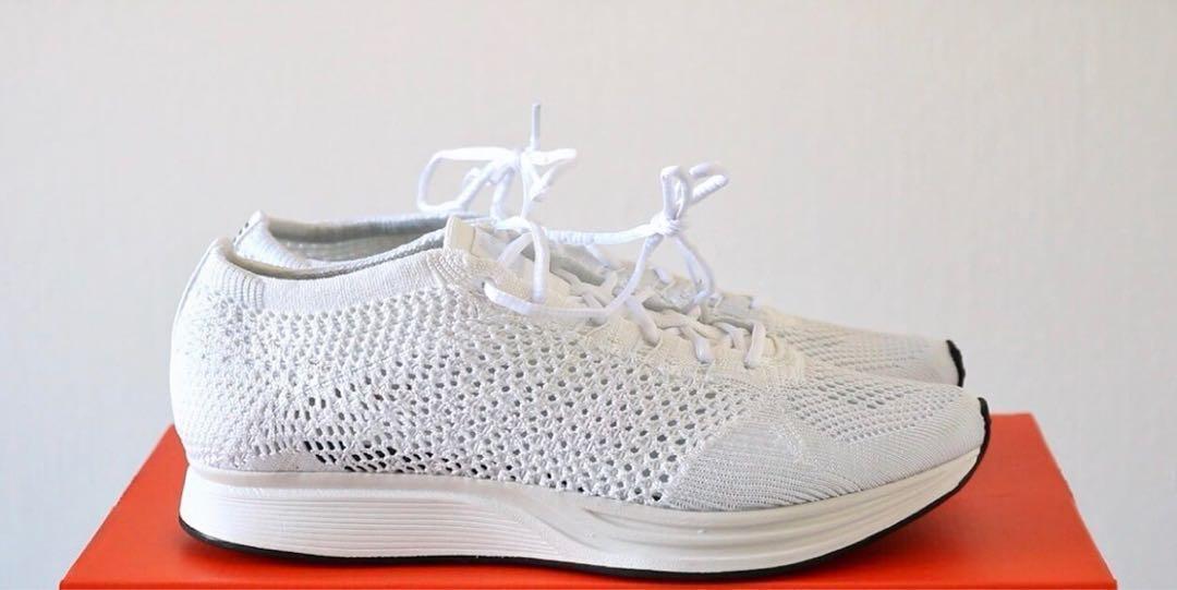 ea8236933629 Nike Flyknit Racer - Triple white 100% authentic